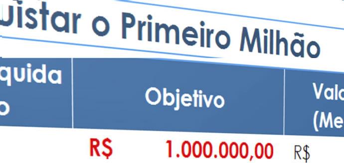 PLANILHA-QUANTO INVESTIR PARA CONQUISTAR O PRIMEIRO MILHÃO